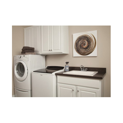 DELTA® 2133LF Classic™ Laundry Faucet, 4 in Center, Polished Chrome, 2 Handles, Import