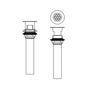 DELTA® 33T260 Open Grid Strainer, 1-1/4 in, Brass Grid, Import
