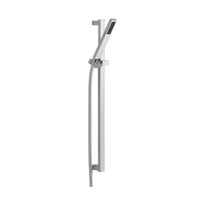 DELTA® 57530 Vero® Premium Hand Shower, 1 Shower Head, 2 gpm Flow Rate, 60 to 82 in L Hose, 1/2-14 NPSM Connection, Polished Chrome, Import