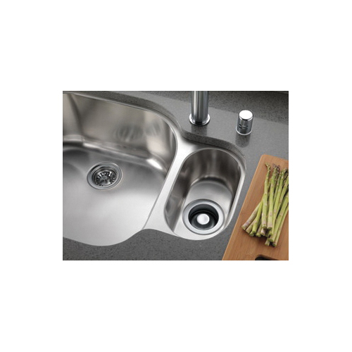 DELTA® 72030-AR Disposal and Flange Stopper, For Use With Kitchen Sink, Brass, Arctic™ Stainless Steel, Import