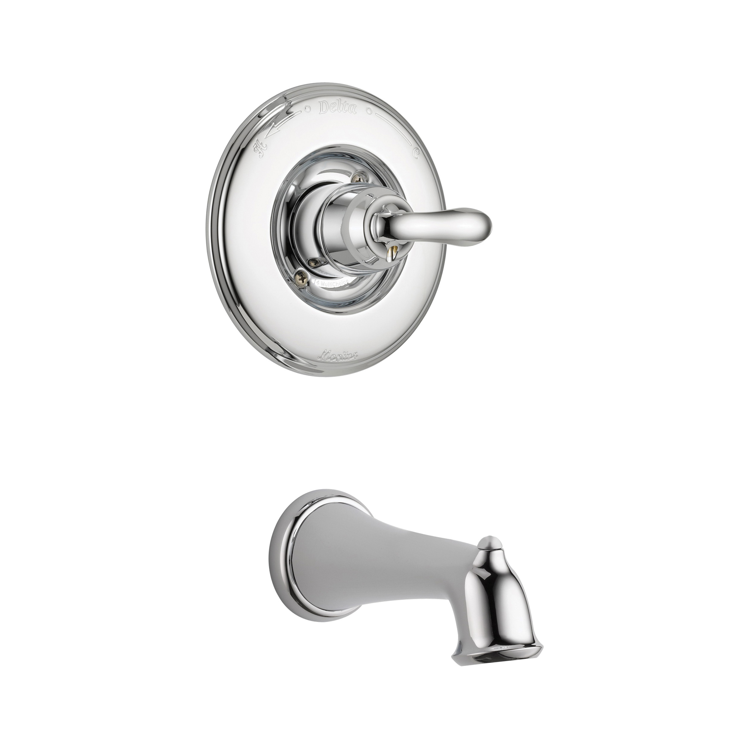 DELTA® T14194 Monitor® 14 1-Function Wall Mount Tub Trim, Linden™, 1.5 gpm Flow Rate, Polished Chrome, 1 Handles, Domestic, Commercial