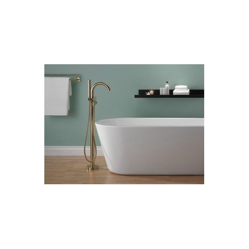 DELTA® T4759-CZFL Contemporary Tub Filler Trim, Trinsic®/Compel®, 6 Flow Rate, Brilliance® Champagne Bronze, 1 Handles, Domestic