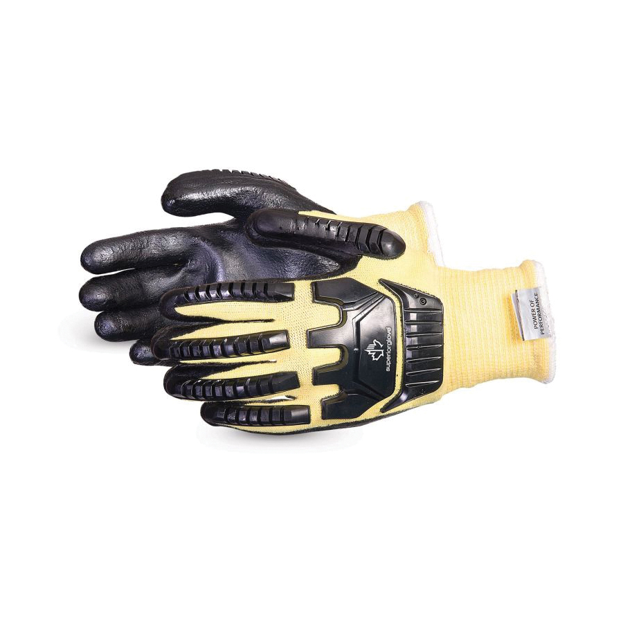 Dexterity® S13KFGPU-10 Cut Resistant Gloves, SZ 10, Polyurethane/Uncoated Back Coating, Composite Filament Fiber/Kevlar®, String Knit Wrist Cuff, Resists: Abrasion, Cut and Puncture, ANSI Cut-Resistance Level: A4, ANSI Puncture-Resistance Level: 2
