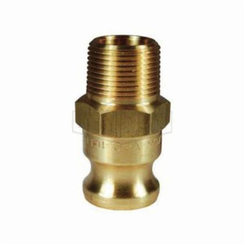 Parker® 125HBL-8-4 Hose-to-Pipe Connector, 1/2 x 1/4 in Nominal, Barb x MPT End Style, Brass