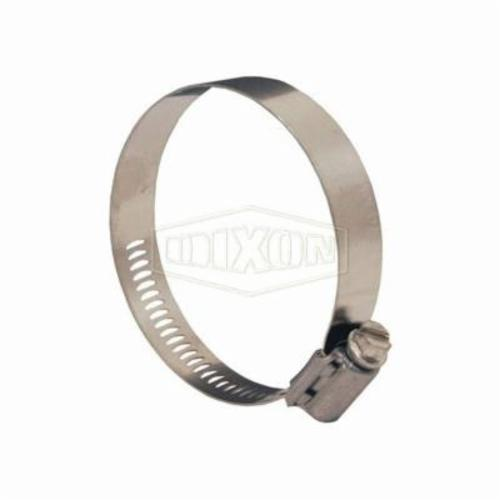 Dixon® Aero-Seal® 30006 Worm Gear Clamp, 28/64 to 50/64 in Clamp, Stainless Steel Band, 305 Stainless Steel Bolt, Domestic