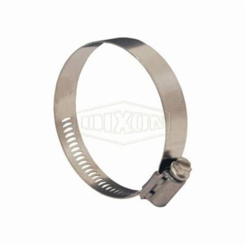 Dixon® Aero-Seal® 30016 Worm Gear Clamp, 52/64 to 1-32/64 in Clamp, Stainless Steel Band, 305 Stainless Steel Bolt, Domestic