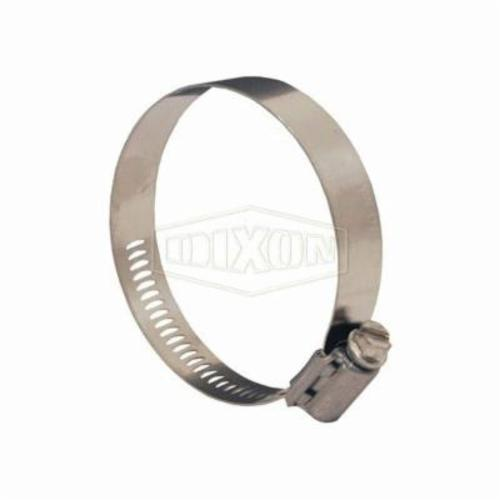 Dixon® Aero-Seal® 30020 Worm Gear Clamp, 52/64 to 1-48/64 in Clamp, Stainless Steel Band, 305 Stainless Steel Bolt, Domestic