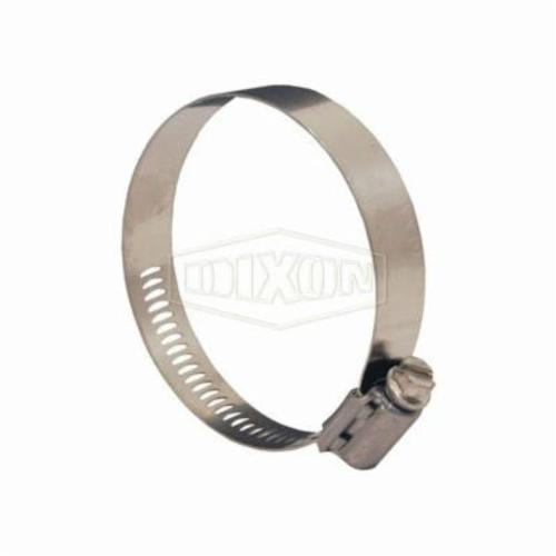 Dixon® Aero-Seal® 30028 Worm Gear Clamp, 1-20/64 to 2-16/64 in Clamp, Stainless Steel Band, 305 Stainless Steel Bolt, Domestic