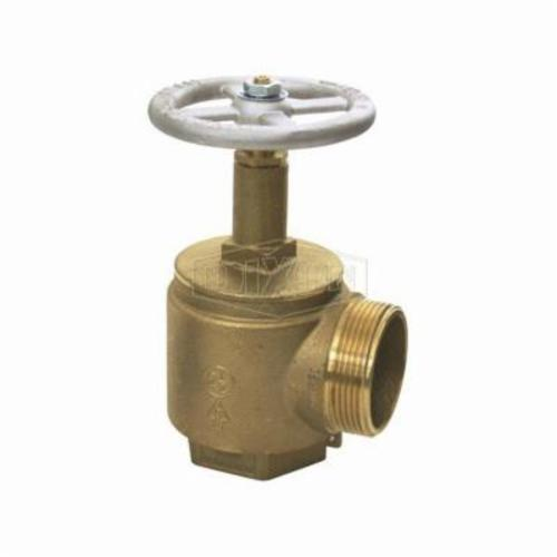 Dixon® AV150-I Global Angle Valve, 1-1/2 in Nominal, FNPT x Male NH NST End Style, Brass Body, Hand Wheel Actuator