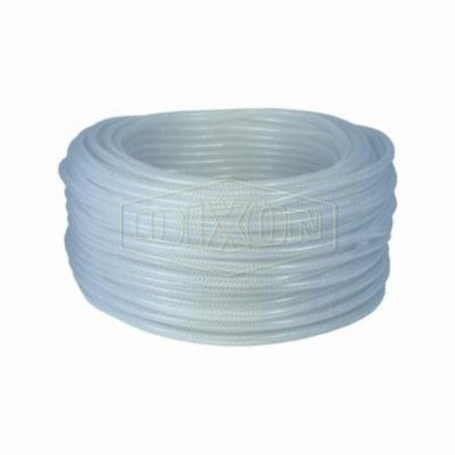 Dixon® BR0446 Braided Tubing, 1/4 in ID x 0.435 in OD x 300 ft L, PVC, Domestic