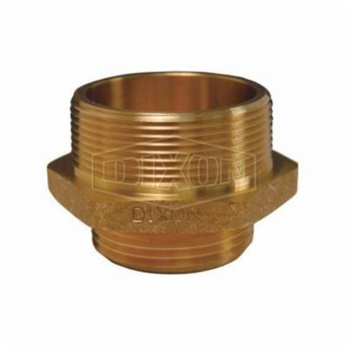 Dixon® DMH15F15S Double Hex Male Nipple, 1-1/2 in, Brass, Male NST (NH) x MNPSH, Domestic