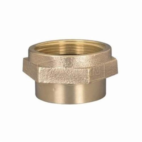 Dixon® DMH7515F Double Reducing Hex Nipple, 3/4 x 1-1/2 in, Brass, MNPT x Male NST (NH), Domestic