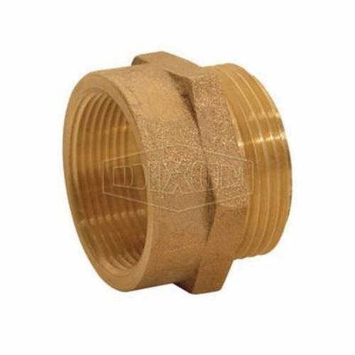Dixon® FM1525F Reducing Hex Nipple, 1-1/2 x 2-1/2 in Nominal, Brass, FNPT x Male NH NST End Style, Domestic
