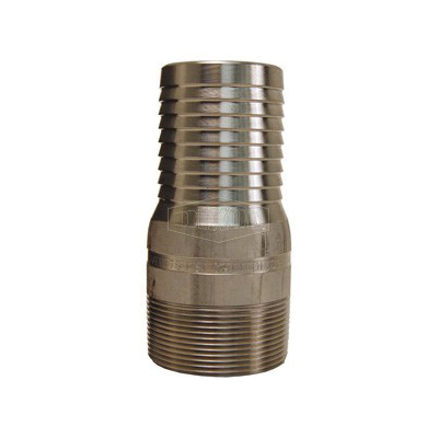 Dixon® RST1 King™ Combination Nipple, 1/2 in x 3-1/8 in L Hose x MNPT, 316 Stainless Steel, Domestic