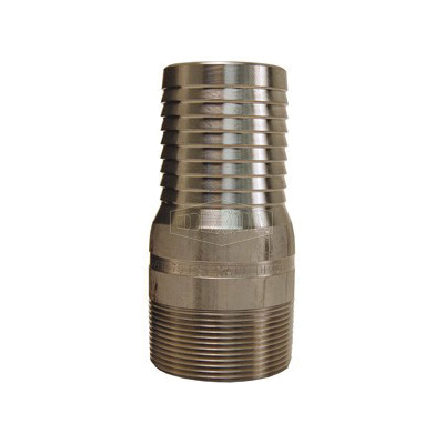 Dixon® RST5 King™ Combination Nipple, 3/4 in x 3-1/8 in L Hose x MNPT, 316 Stainless Steel, Domestic