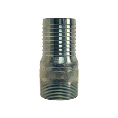 Dixon® STC20 King™ No Knurl Combination Nipple, 1-1/2 in x 4-5/32 in L Hose Shank x MNPT, Carbon Steel, Zinc Plated, Domestic