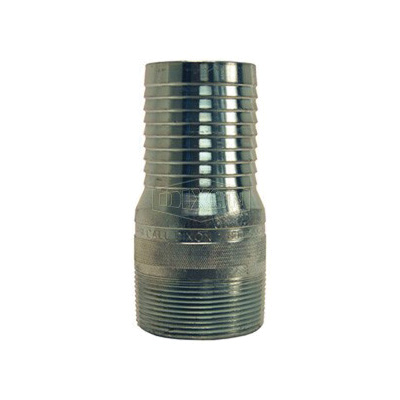 Dixon® STC25 King™ No Knurl Combination Nipple, 2 in x 4-11/16 in L Hose Shank x MNPT, Carbon Steel, Zinc Plated, Domestic