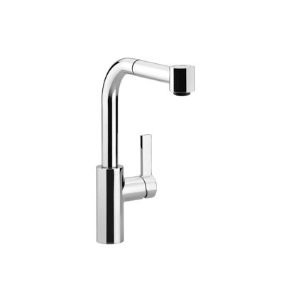 DORNBRACHT 33 870 790 Single-Lever Mixer With Pull-Out Spout, 1.5 gpm, 360 deg Swivel Spout, Side Spray(Y/N): No, Import