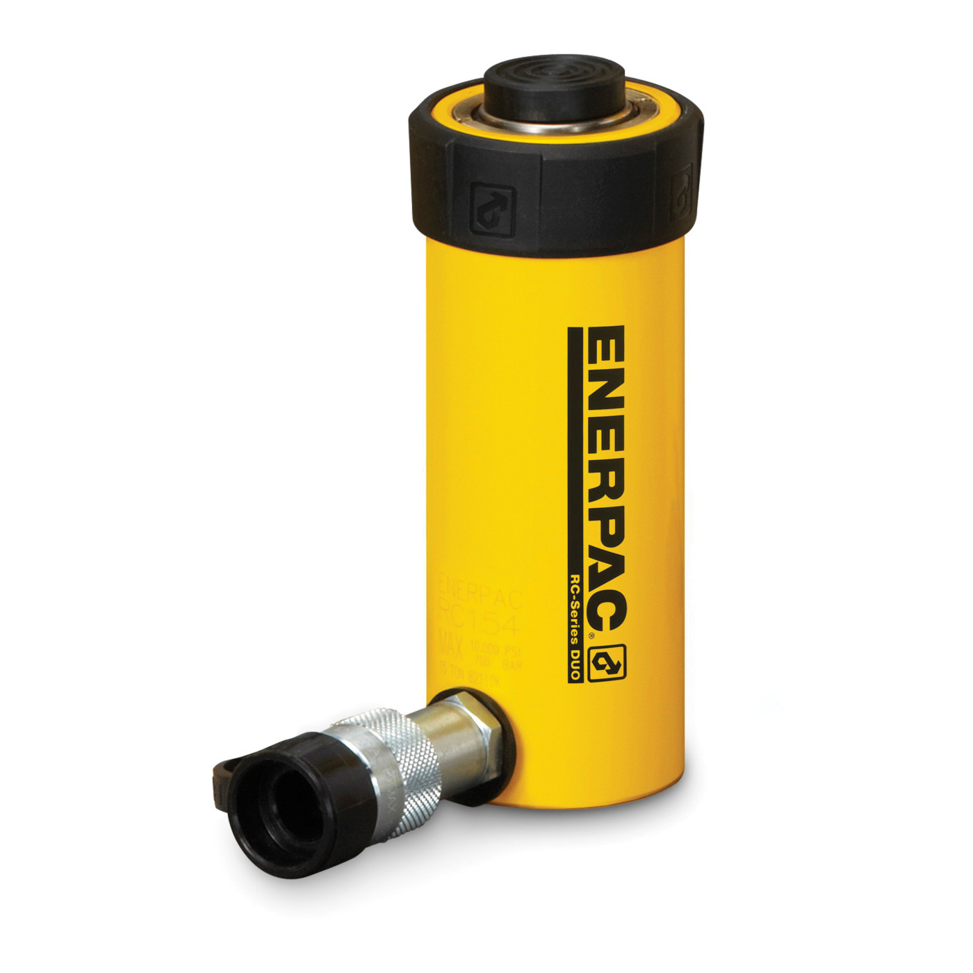Enerpac® RC-101 DUO General Purpose Single Acting Hydraulic Cylinder, 10 ton Capacity, 1.69 in Dia Bore, 1 in L Stroke, 3.53 in H Retract, 1-1/2 in Dia Rod, 700 bar