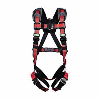 EVOTECH® 10112708 Harness With Integral Backpad, Standard, 400 lb Load, Polyester Webbing Strap, Tongue Leg Strap Buckle, Qwik-Connect Chest Strap Buckle, Padding Shoulder Strap Buckle, Stamped/Forged Alloy Steel Hardware, Red