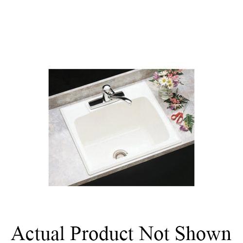 ELM® 10CBT Self-Rimming Utility Sink, 25 in W x 13-3/4 in D x 22 in H, Fiberglass, Biscuit