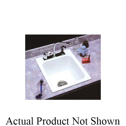 ELM® 11BN Self-Rimming Utility Sink, 17 in W x 10 in D x 20 in H, Fiberglass, Bone