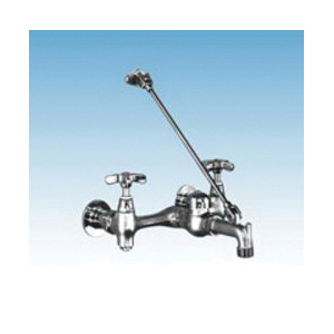 ELM® 63.600A Heavy-Duty Mop Service Faucet, 2 Handles, Polished Chrome