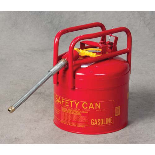 Eagle Manufacturing 1215 Type II Safety Can, 5 gal Capacity, 12-1/2 in Dia x 15-3/4 in H, Galvanized Steel, Red
