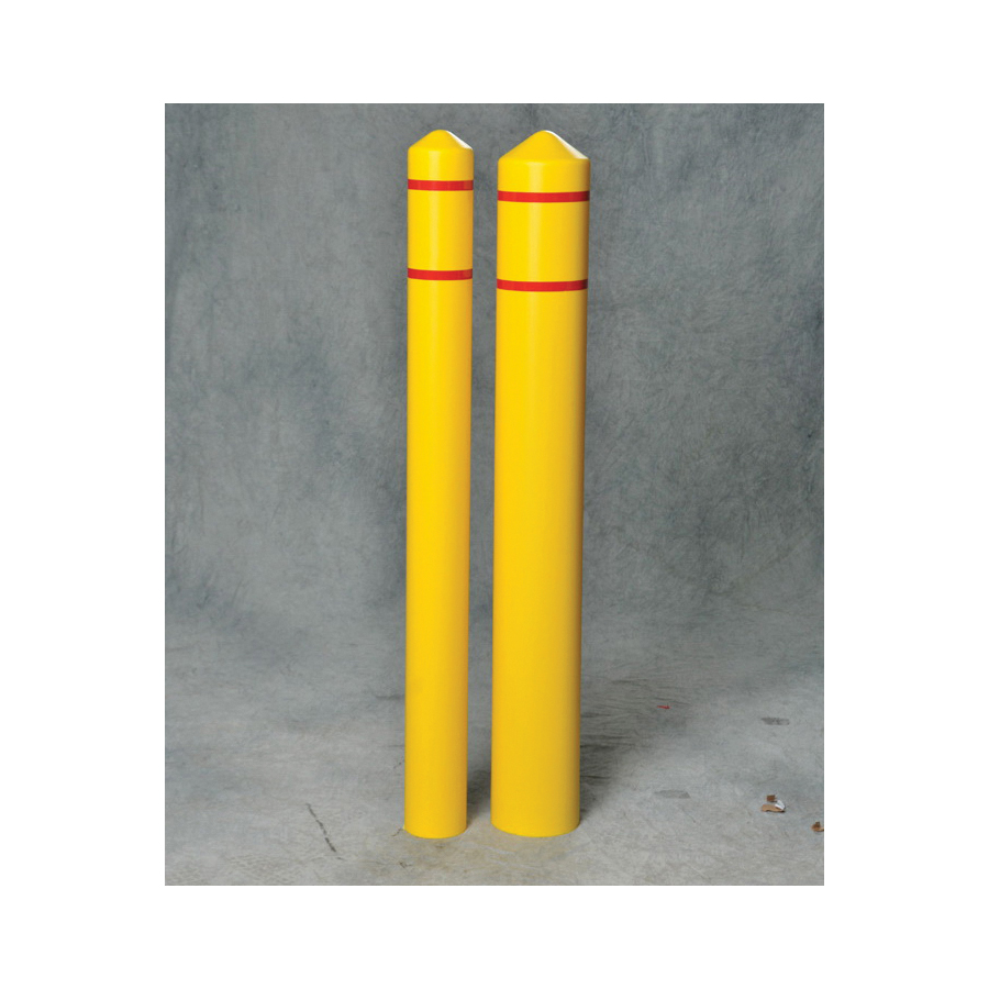 Eagle Manufacturing 1735 Smooth Bumper Post Sleeve, For Post 4 in, Yellow, Slide-On Installation, 56 in H, 4-3/4 in ID x 5-1/4 in OD, HDPE