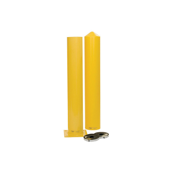 Eagle Manufacturing 1744 SCH 40 Round Bollard Post, 42 in H, 4-1/2 in D, Steel, Yellow