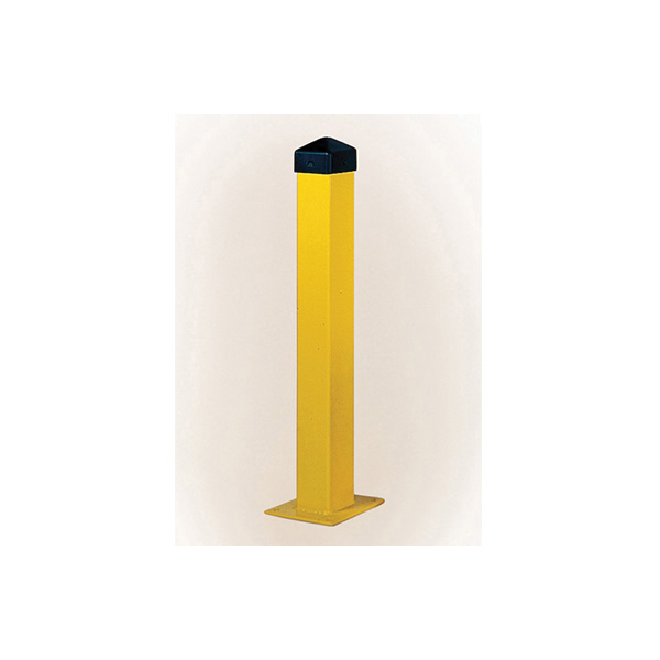 Eagle Manufacturing 1744PS All-in-One Combo Bollard Post, 42 in H, 5 in D, Steel, Yellow