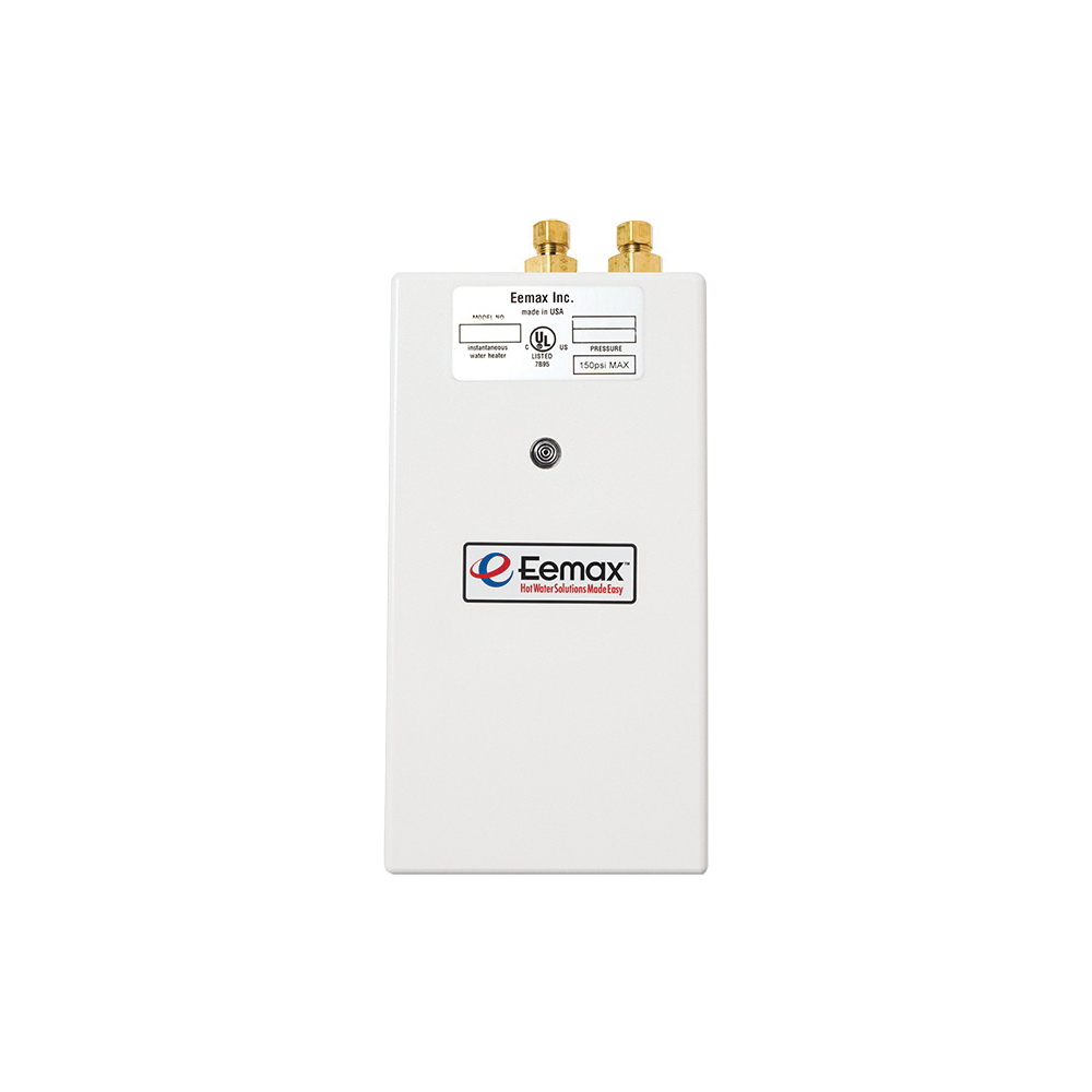 Eemax™ SP8208 DL One™ Single Point Electric Tankless Water Heater, 208 VAC, 8300 W, 1 ph, 3/8 in Compression Water, 40 A, Commercial/Residential/Dual: Commercial