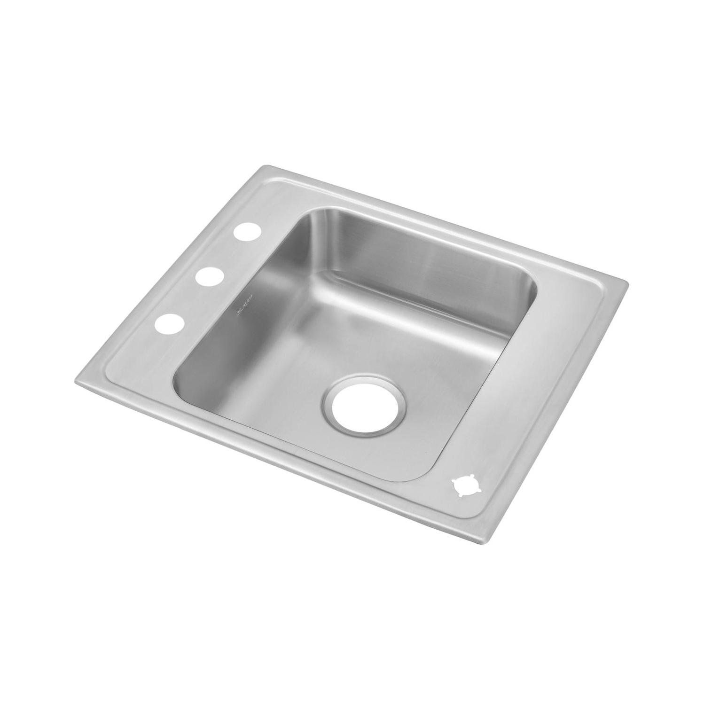 Elkay® DRKR25224 Classroom Sink, Rectangular, 22 in W x 7-5/8 in H, Top Mount, 304 Stainless Steel, Lustertone, Domestic