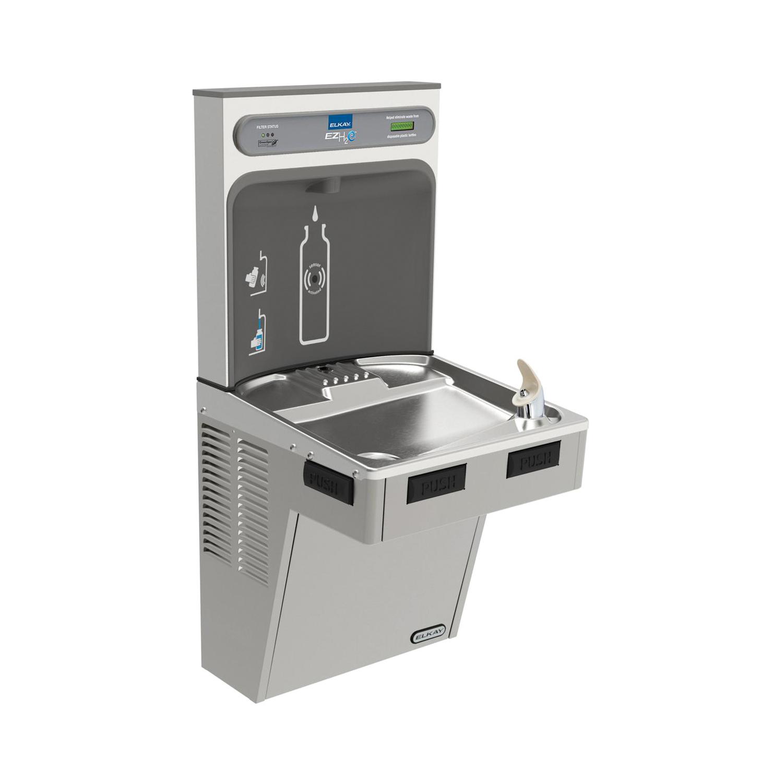 Elkay® LMABF8WSLK EZH2O® Filtered Bottle Filling Station and Cooler, 1.1 gph, Sensor Operation, Refrigerated Chilling, 1 Station, Domestic