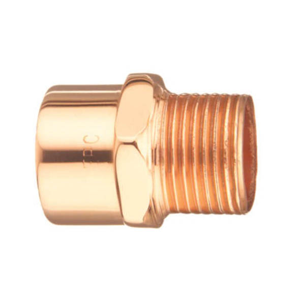 EPC 10030294 104-R Solder Reducing Male Adapter, 1/4 x 3/8 in, C x MNPT, Wrot Copper, Domestic