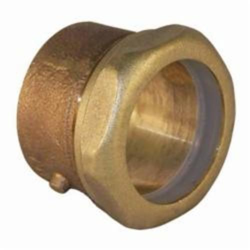 EPC 10047368 5801-7 Solder DWV Trap Adapter, 1-1/2 in Nominal, C x Slip Joint End Style, Brass, Domestic
