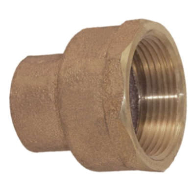 EPC 10056904 4703 Solder Adapter, 4 in Nominal, C x FNPT End Style, Brass, Domestic