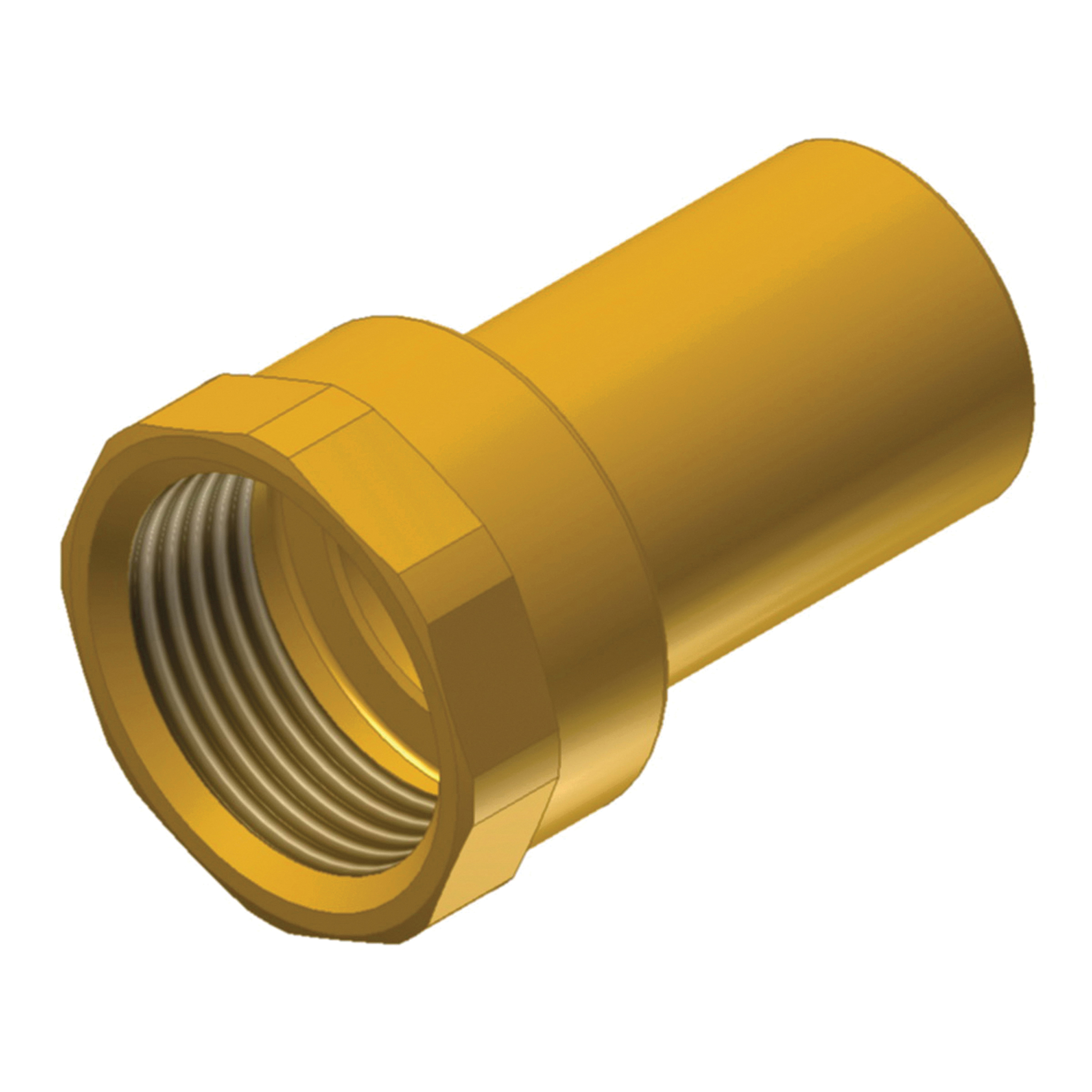 EPC ApolloPRESS® 10075776 803-2 Press Female Street Adapter, 1-1/2 in, Fitting x FNPT, Brass, Domestic
