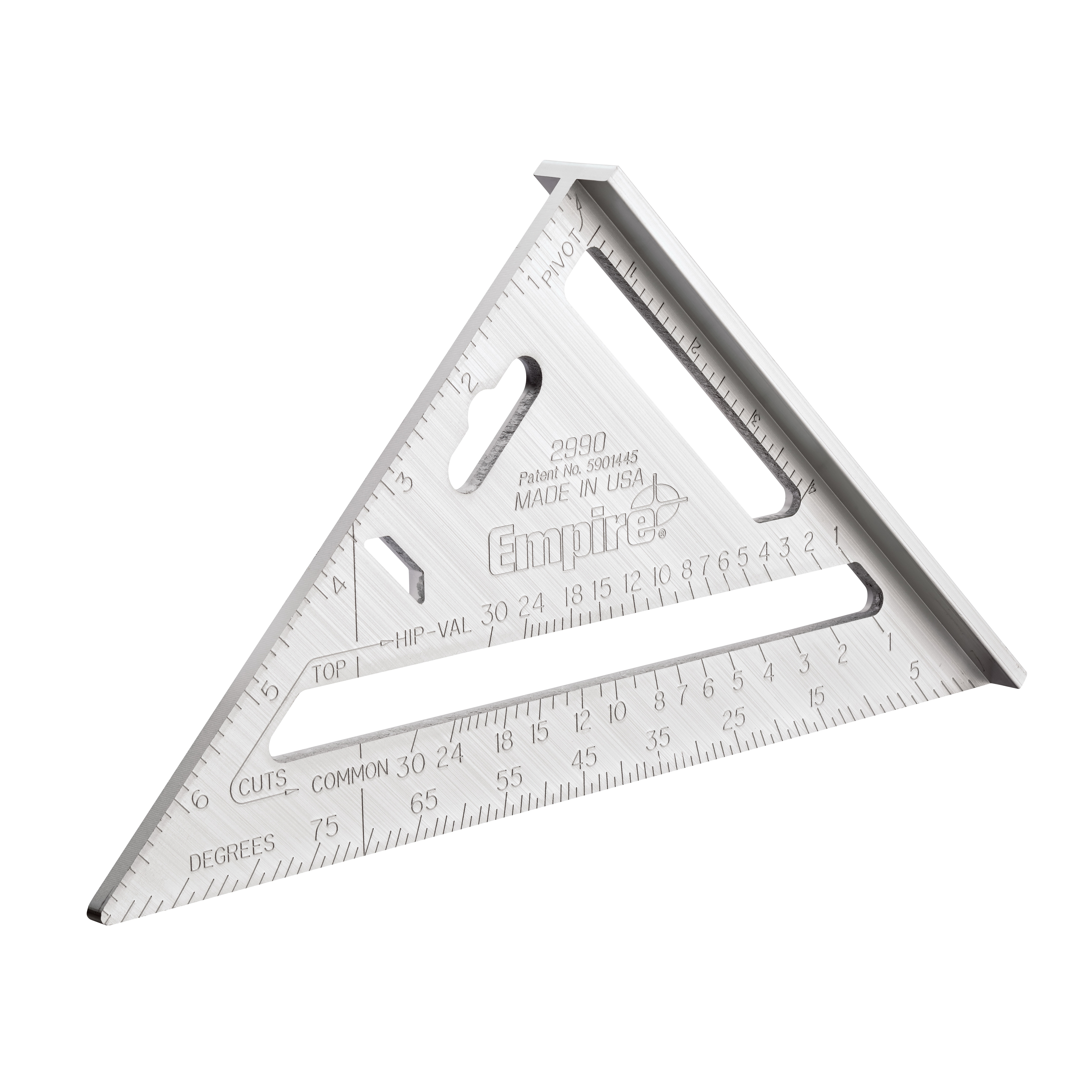 Empire® 27912 Protractor, 0 to 180 deg Measuring, 6 in L, Graduations 1/16 in, Stainless Steel