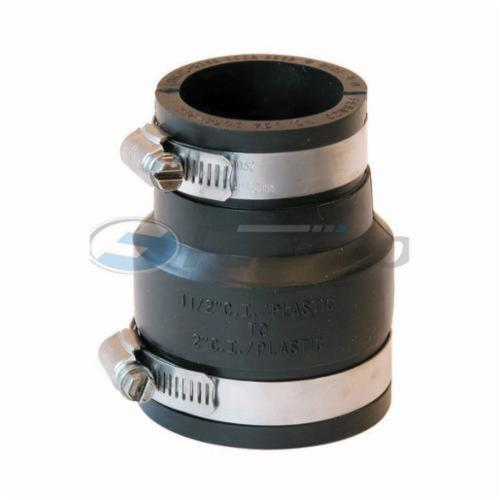 Fernco® 1056-215 Flexible Pipe Coupling, 2 x 1-1/2 in Nominal, Plastic End Style, PVC, Domestic
