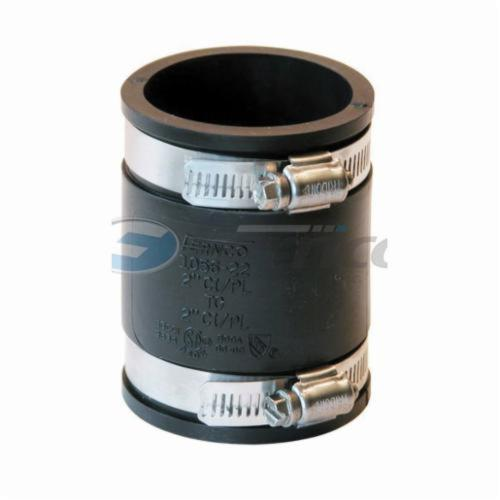 Fernco® 1056-22 Flexible Pipe Coupling, 2 in Nominal, Cast Iron/Copper/Lead/Plastic/Steel End Style, PVC, Domestic