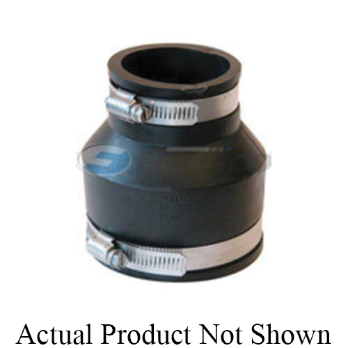 Fernco® 1056-32 Flexible Pipe Coupling, 3 x 2 in Nominal, Plastic End Style, PVC, Domestic