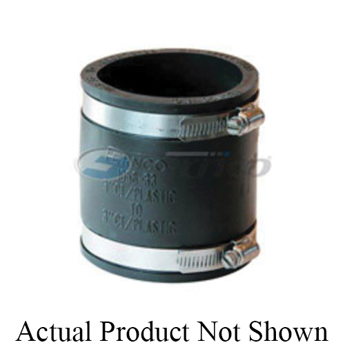 Fernco® 1056-33 Flexible Pipe Coupling, 3 in Nominal, Cast Iron/Plastic End Style, PVC, Domestic