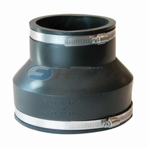 Fernco® 1056-64 Flexible Pipe Coupling, 6 x 4 in Nominal, Cast Iron/Plastic End Style, PVC, Domestic