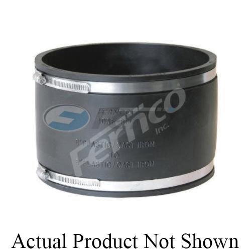 Fernco® 1056-88 Flexible Pipe Coupling, 8 in Nominal, Plastic End Style, PVC, Domestic
