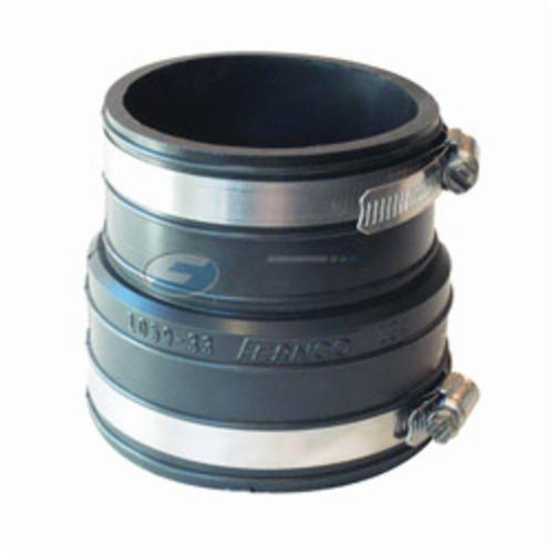 Fernco® 1059-33 Flexible Pipe Coupling, 3 in Nominal, Plastic Socket x Plastic/Cast Iron End Style, PVC, Domestic