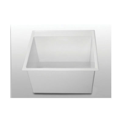 FIAT® SERV-A-SINK® DL1 Single Bowl Laundry Tub, 24-1/2 in W x 13-1/2 in H, Molded Stone