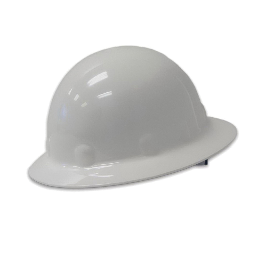 Fibre-Metal® by Honeywell E1RW00A006 Full Brim Hard Hat, Thermoplastic, 8-Point Suspension, ANSI Electrical Class Rating: Class C, E and G, ANSI Impact Rating: Type 1, Spirit of American Flag Graphics, Ratchet Adjustment