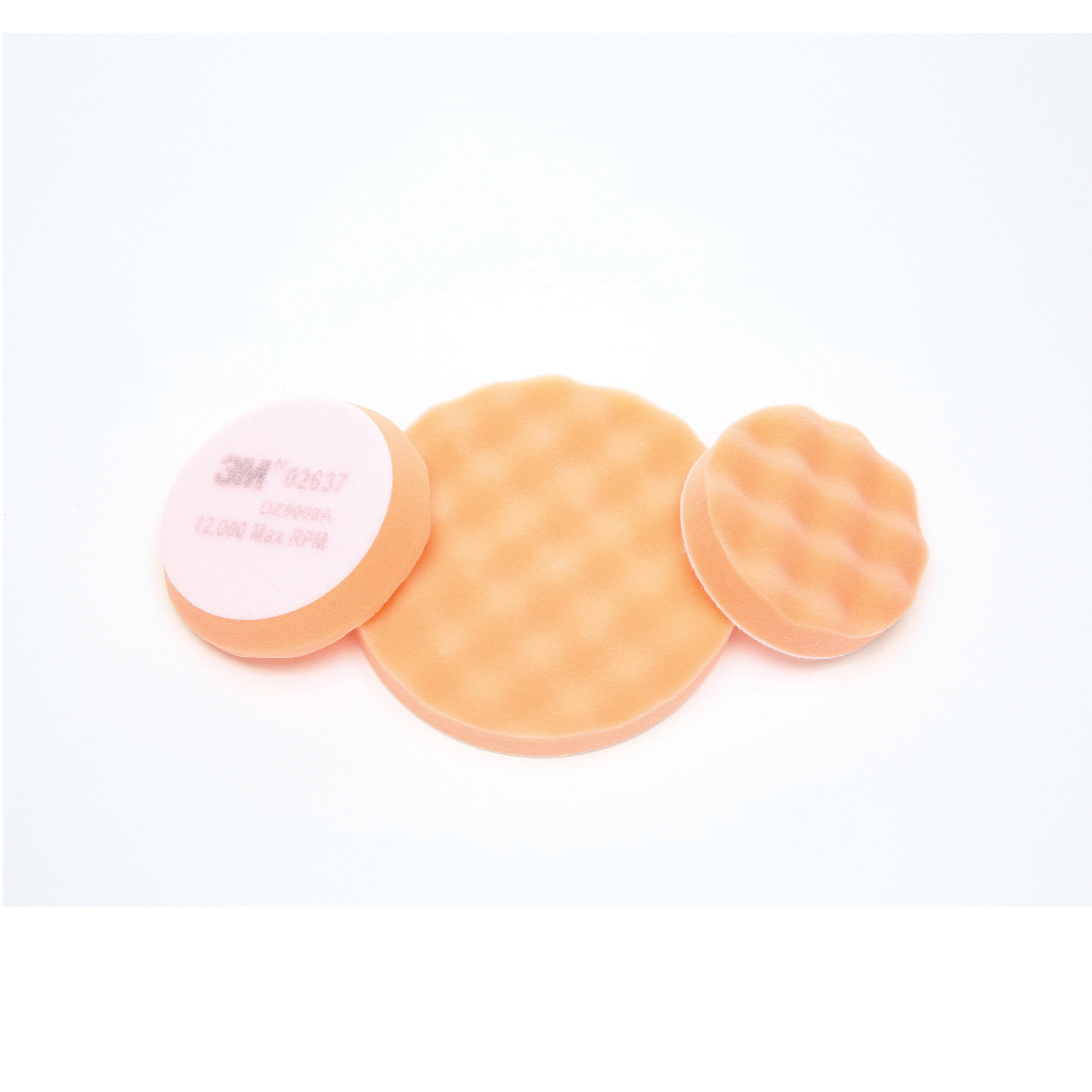 Finesse-it™ 051141-25134 Regular Buffing Pad, 3-1/4 in Dia, Hook and Loop Attachment, Foam Pad