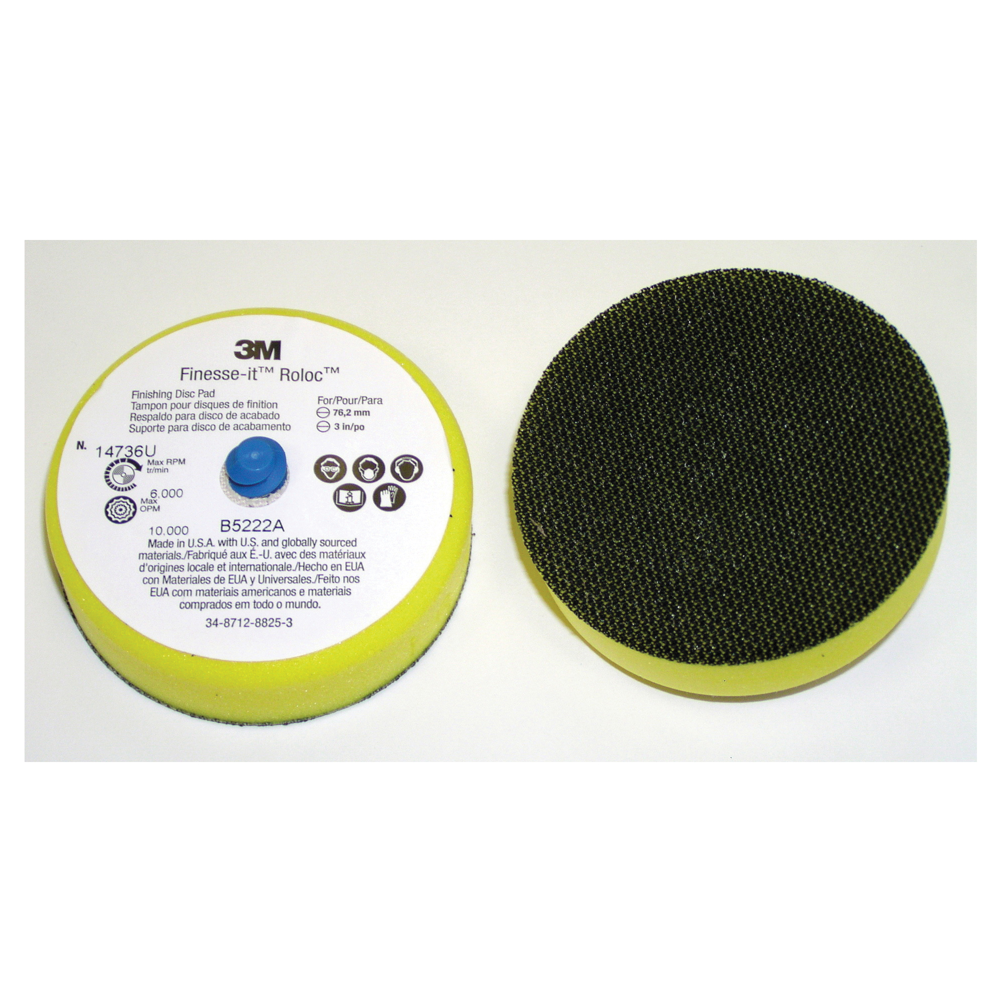 Finesse-it™ 051144-13441 Firm Density Regular Hand Sanding Pad, 1-1/4 in Dia Pad, PSA Attachment